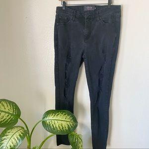 Torrid | Sky High Skinny Distressed Jeans